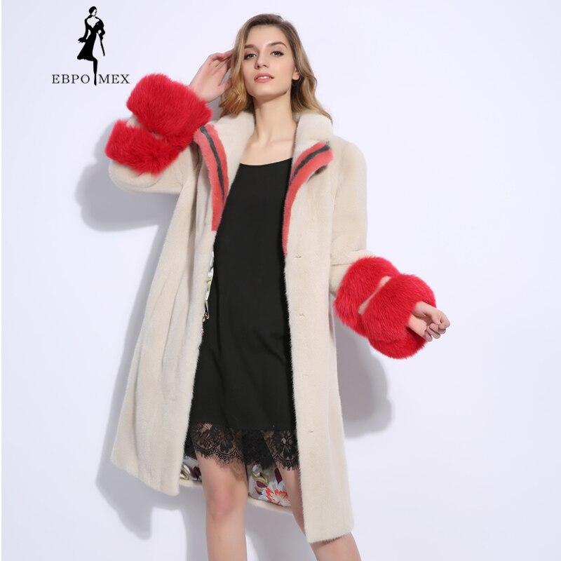 Véritable 2018 Cuir Fourrure Modèles De Tendance Mode Manteaux Vison Manteau Importé Femmes Beige Nouvelle En tshrBdQxC