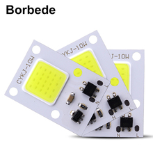 hot deal buy borbede 10w cob light led lamp chip diy floodlights spotlight smart ic ac160-260v high lumen not need power supply