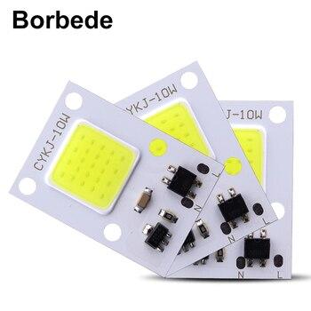 DIY Borbede 10W 5PCS COB Licht LED Lampe Chip Flutlicht Scheinwerfer Smart IC AC160-260V Hohe Lumen nicht benötigen netzteil