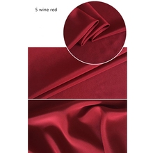 1 meter dyed double-crepe 100% silk fabric for sewing 12 mm solid cloth lining fabrics charmeuse telas quilting patchwork