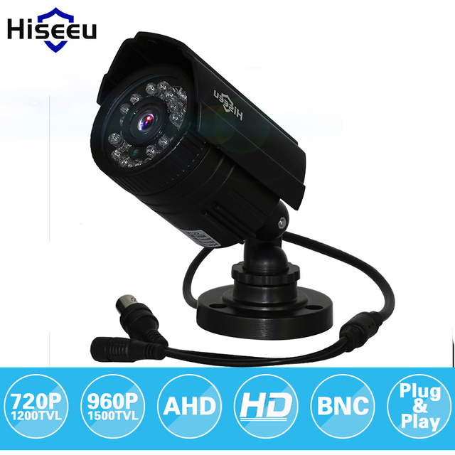 Hiseeu AHDM 720P 960P ABS Case AHD Analog High Definition Metal Camera AHD CCTV Camera Security Outdoor free shipping AHBE