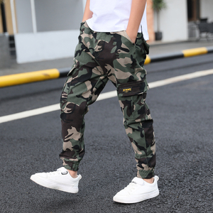 Image 5 - Hot boys summer trousers 4 15 years old Multi pocket camouflage cargo pants Leg fashion versatile boys gift cool