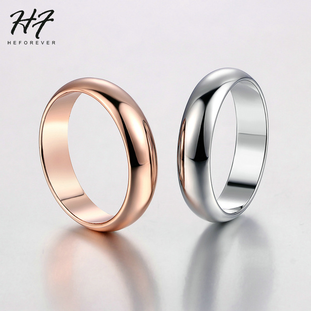 Wedding Gold Color Rings For Women Promise Dating Couple Rings Jewellry Women' Men' Ring Simple Fashion Jewelry Wholesale R049 3