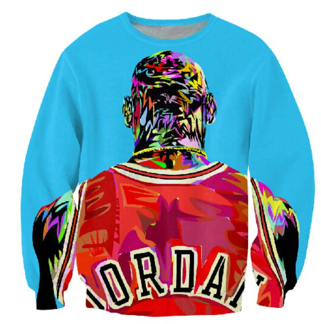 Factory New Men /Women S 3d Pullover Hoodies Print Color Painting Sweatshirt Long Sleeve Crewneck Casual Sweat Shirt