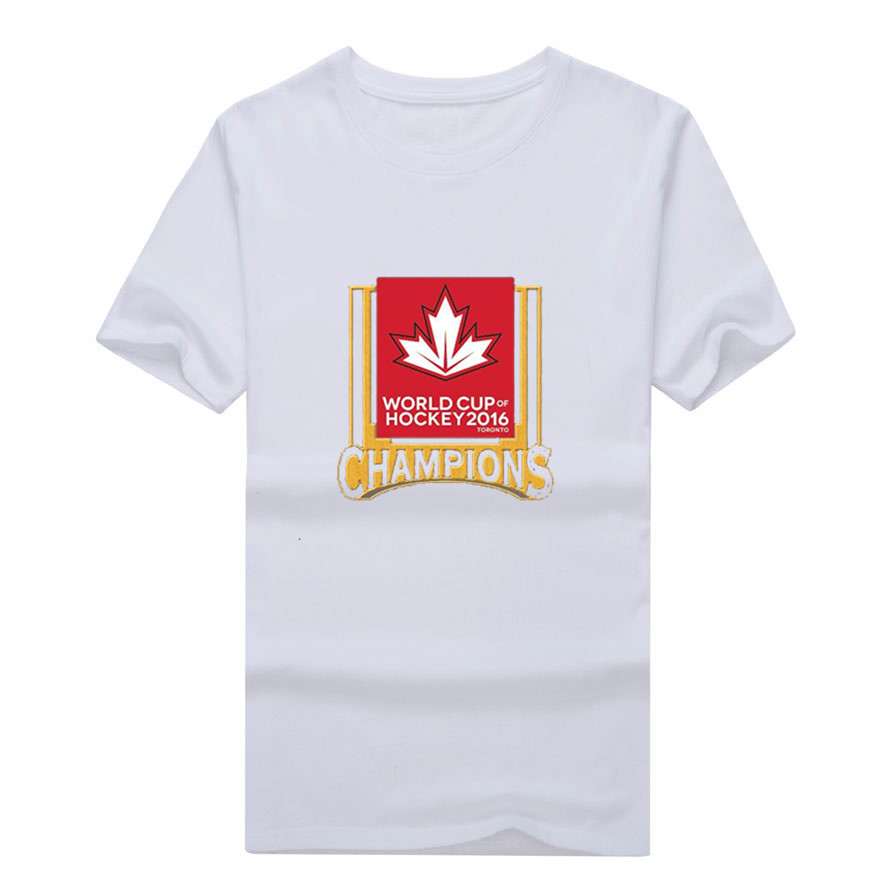 Men's <font><b>Canada</b></font> <font><b>Hockeyes</b></font> <font><b>World</b></font> <font><b>Cup</b></font> <font><b>Of</b></font> <font><b>2016</b></font> Champions t-shirt 100% cotton shirt WCH