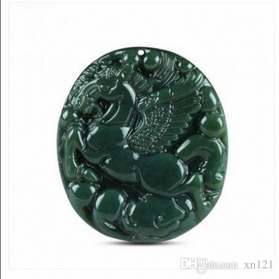 Vente de bijoux>>> Xinjiang Hetian jadeite cheval pendentif hommes et femmes modèles à succès Pegasus pendentif rond