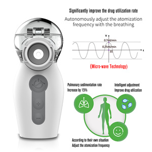 Image 2 - Yongrow 2020 Newest Nebulizer Handheld Inalador Nebulizador Asthma Inhaler Atomizer for Children Adult Rechargeable health care