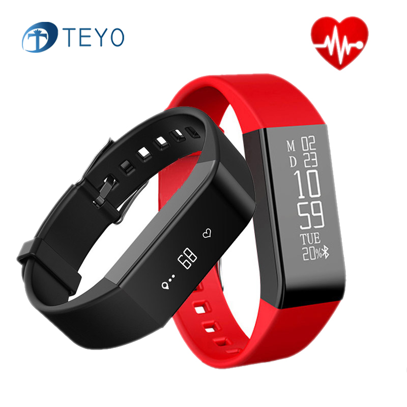 Tryo Smart Bracelet A6 Heart Rate Sleep Monitor Waterproof Message Notification Pedometor Wristband Braselet for Android