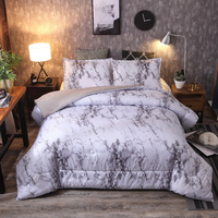 Marble pattern bedding explosions Double bed set stone bed mattress sheets Four sets