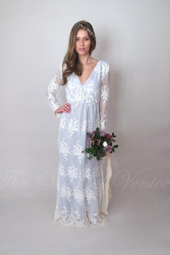 Blue Vintage Lace Wedding Dresses – fashion dresses