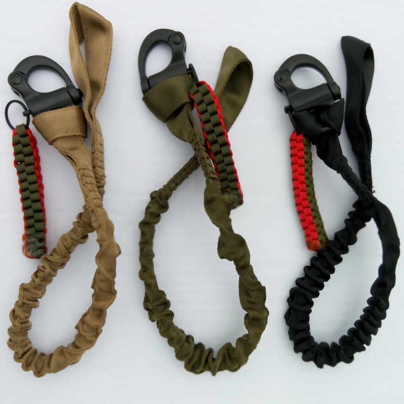 Belt Strap Combat Accessories Quick Release Sling Elastic Safety  Adjustable Belt Elastic Safety 1000D Nylon 3 Colors Available