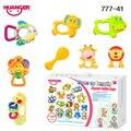 Huanger 8 pçs/set baby chocalhos/mobiles mama papa bebê mordedor toys recém-nascidos como presente brinquedo educacional da criança bebe #777-41 (a)