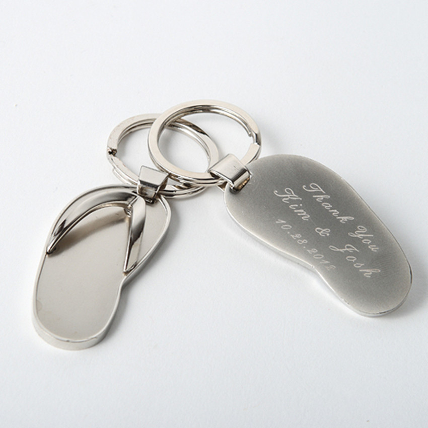 personalized custom flip flop keyringskeychains beach theme wedding gifts favors anniversary souvenirs for guests