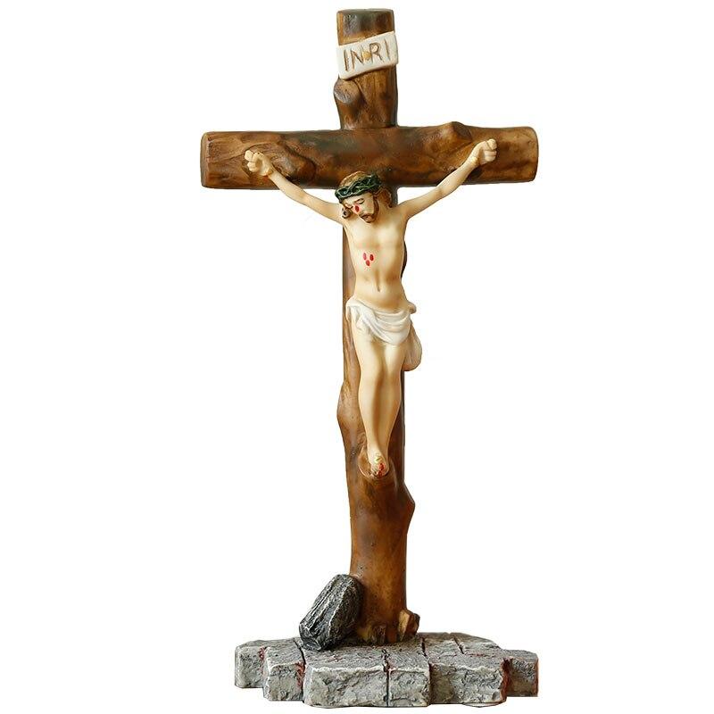 Icônes religieuses catholiques chrétiennes idole cadeaux de mariage cadeaux Christ jésus bibelot ornements croix ameublement - 5