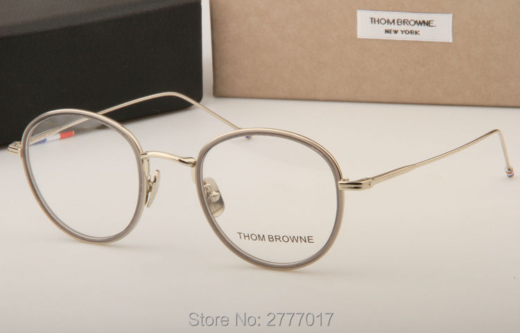 da52cfa84e Thom Browne eyeglasses metal frames TB905 men women Oculos Vintage ...