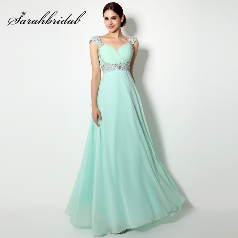 Cheap Beading Sequined Mother of the Bride Dresses Chiffon Sweetheart Lace Up Back Women Dress Long Evening Party Gowns OS179