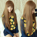 Synthetic harajuku goku wig Brand New Female Long blonde Straight Synthetic brown Wig Rpg Wigs Cochet Hair High Quality cabello