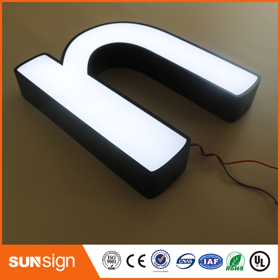 Custom LED Advertising Board Type Frontlit LED Light Up Letters