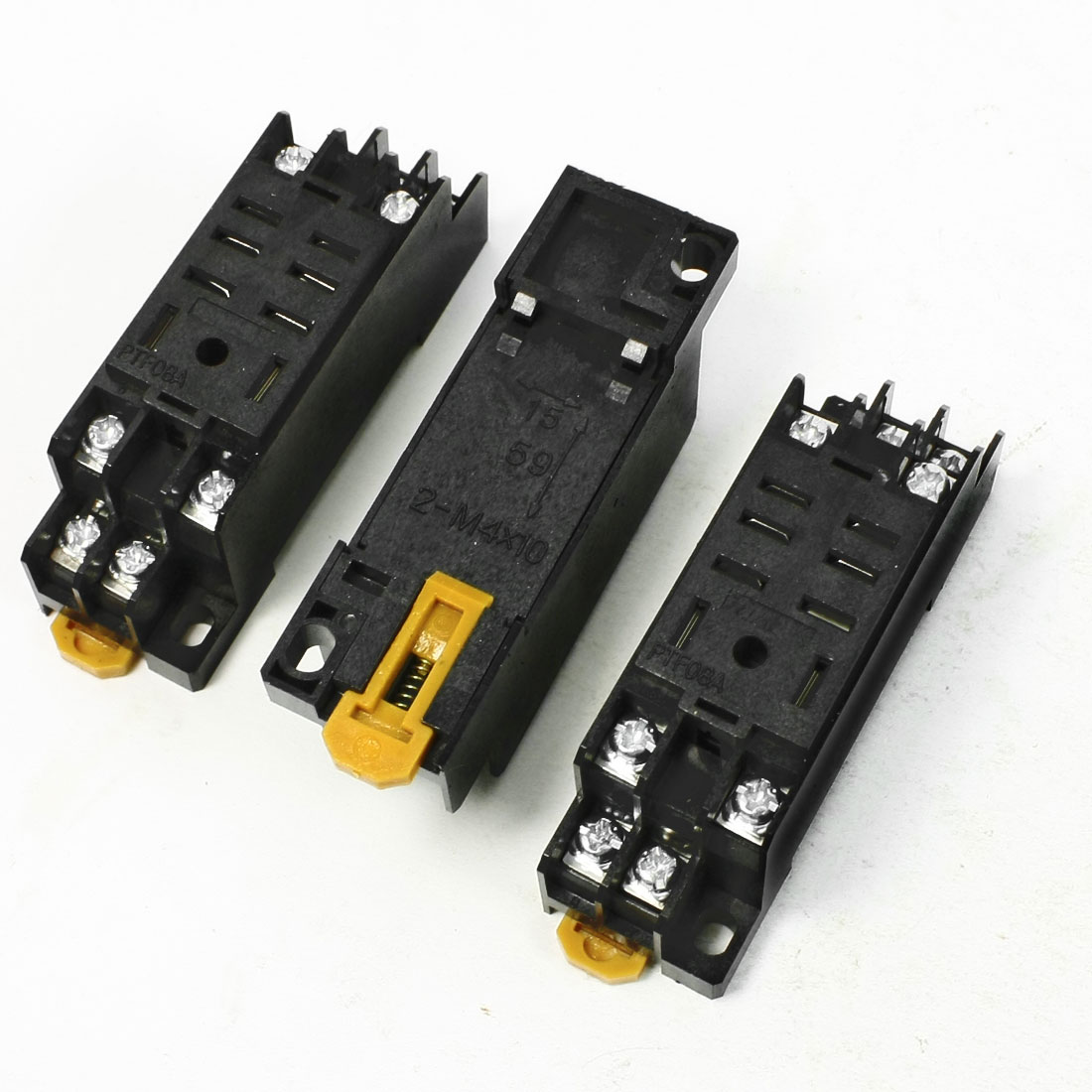 3 Pcs DIN Rail Mounting Plastic Relay Socket Base Holder for 8 Pin Relay PYF08A цены