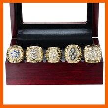 Золотой цвет супер высокое качество 1971 1977 1992 1993 1995 Dallas Cowboys Super Bowl Чемпионат кольцо, 5 шт. кольцо набор сбора