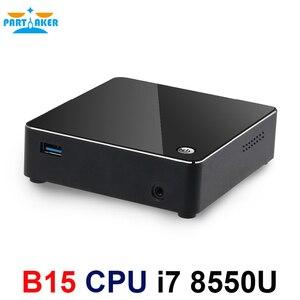 Image 4 - معالج انتل كور i7 من الجيل الثامن معالج i7 8550u كمبيوتر مصغر ويندوز 10 HDMI DP HTPC الرسومات ماكس إلى 32GB Ram 512GB SSD