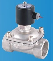 Free Shipping 2PCS/LOT 2'' Stainless Steel Water Solenoid Valve Normally Open Model 2S500 50 NO
