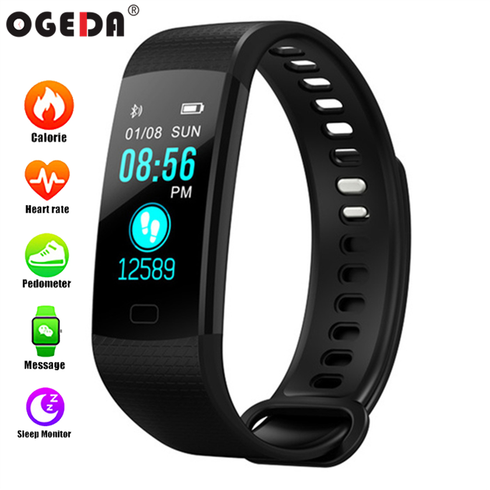 OGEDA Sport Smart Bracelet Y5 blood pressure heart rate monitor bracelet IP67 Waterproof fitness tracker Top luxury smart watch цены онлайн