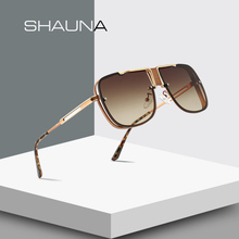 SHAUNA Fashion Men Square Sunglasses Brand Designer Gradient
