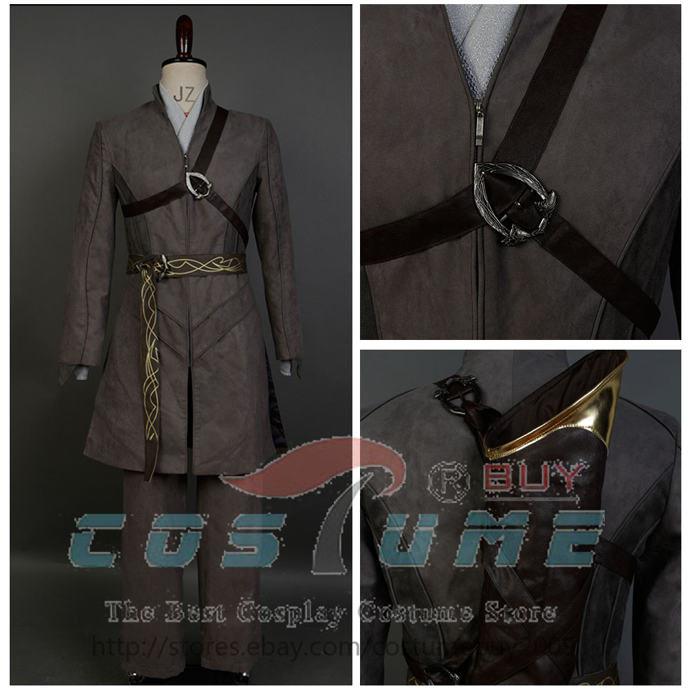 Lord of the Rings Hobbit Prince Legolas Greenleaf Cosplay Costume Suit Outfit