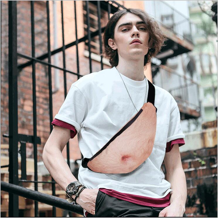 Creative Men Women Dad Bod Bag Funny Flesh Color Fat Beer Belly Pocket Waist Bags Case For IPhone X 8 7 Sport Waist Dadbag Purse