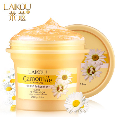 LAIKOU Deep Cleansing Facial Gel Scrub/go Cutin Face Exfoliating Cream Natural Orgonic Germany Camomile Extract Bodyexfoliating