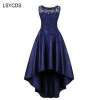 LSYCDS Slim Lace Women Party Dress 2018 Sleeveless Maxi Dresses For Women Prom Wedding Party Elegant Vestido