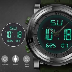 Image 3 - SINOBI sportowe cyfrowe zegarki męskie chronograf męskie zegarki wodoodporne czarne Watchband męskie wojskowe genewa kwarcowy zegar