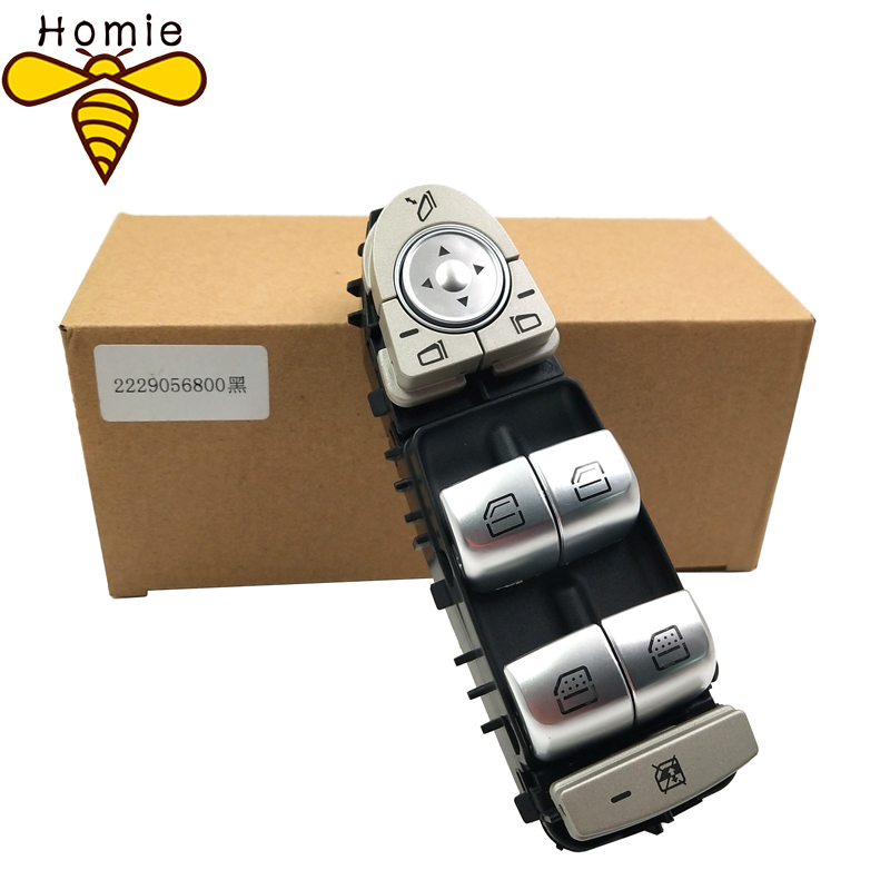 New High Quality Front Door Window Switch 2229056800/A 222 905 68 00 For Mercedes Benz C300 C63 C350e C Class W205 W253 W222-in Car Switches & Relays from Automobiles & Motorcycles
