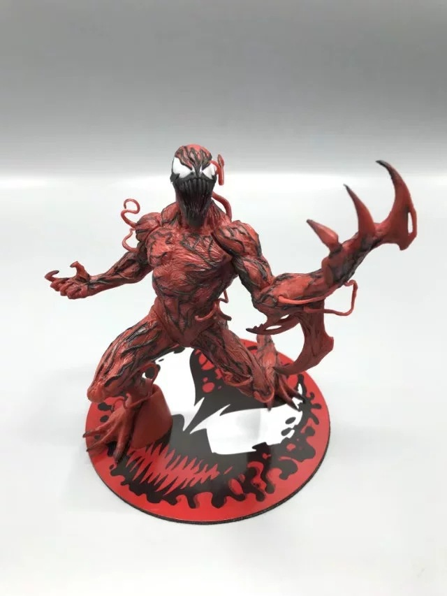 The Amazing Spider-Man Carnage Action Figure Cletus Kasady Carnage Doll PVC figure Toy Brinquedos Anime 16CM 10cm spider man japanese anime lovely swing doll cute black panther mobile phone holder shaking head action