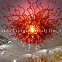 C32 home Декор Dale chihully Стиль руки черные красные Стекло потолочный светильник