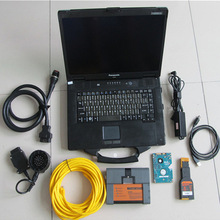 newest for bmw software for icom a2 500gb hdd with Toughbook CF52 Car Diagnostic laptop CF 52 notebook ready to use