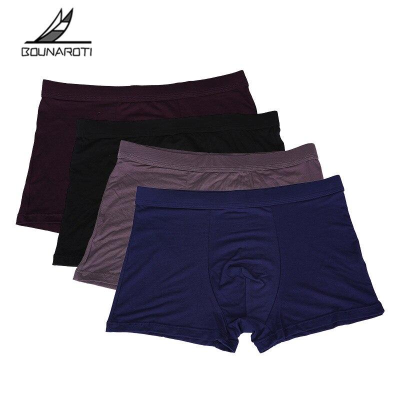 Brand Underwear Men's Boxers Bamboo Fiber Boxer Men Panties Men Underwear cueca boxer homme boxershorts men calzoncillos hombre