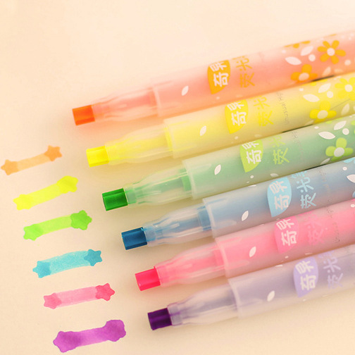 1728 pz/set DHL Corea Del Sud Cancelleria Creativa Stella Tipo di Penna Fluorescente Penna Pennino Singolare Colore Evidenziatore All'ingrosso