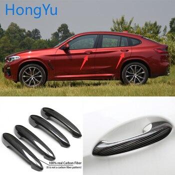 for BMW x4 x4M G02 2019 2020 Auto Exterior Carbon Fiber Made Door Handle Cover Sticker Decorations Overlay Trim