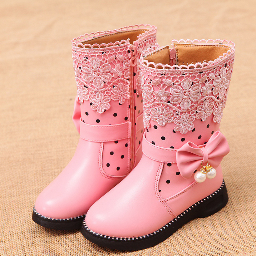 Girls Boots Snow Shoes Winter Kids Shoe Girl Party Children Dress Toddler Shoes 2016 -5215