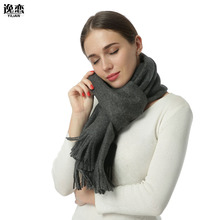 11 Color YILIAN Brand Top Quality Wool Women Winter Long Scarf Thick Top Level Ponchos and Capes Elegant Classic Lady Scaves