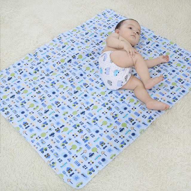 Bamboo Reusable Diapers Baby Crawling Mat Inflatable Mattress Portable Waterproof Diaper Changer Changing For Newborns
