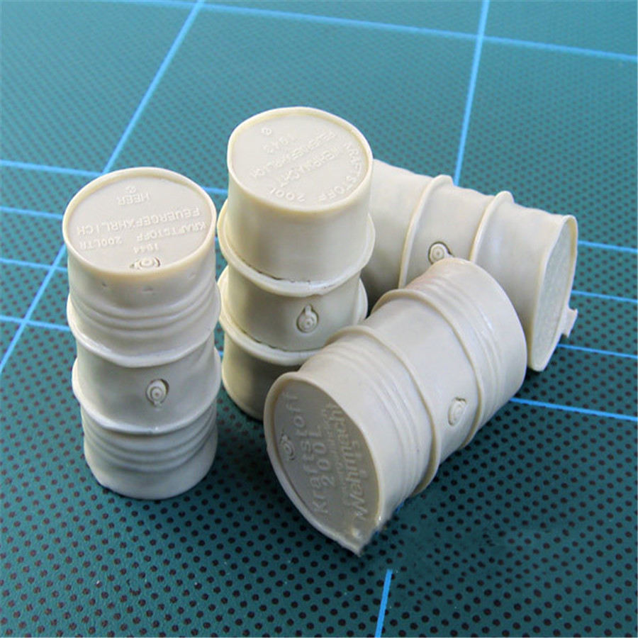4pcs/lot <font><b>1/35</b></font> <font><b>Resin</b></font> Model World War II Scenario <font><b>Accessories</b></font> 200L Drums image