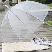 На высоком каблуке; Модные прозрачные чистый надувной купол Форма зонтик для использования вне помещений Ветрозащитный зонты Принцесса Свадебные украшения#314