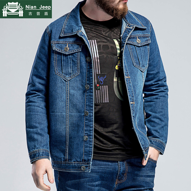 Denim Jacket Coats Jaqueta Jeans Spring Streetwear Male Autumn Plus-Size Casual New And