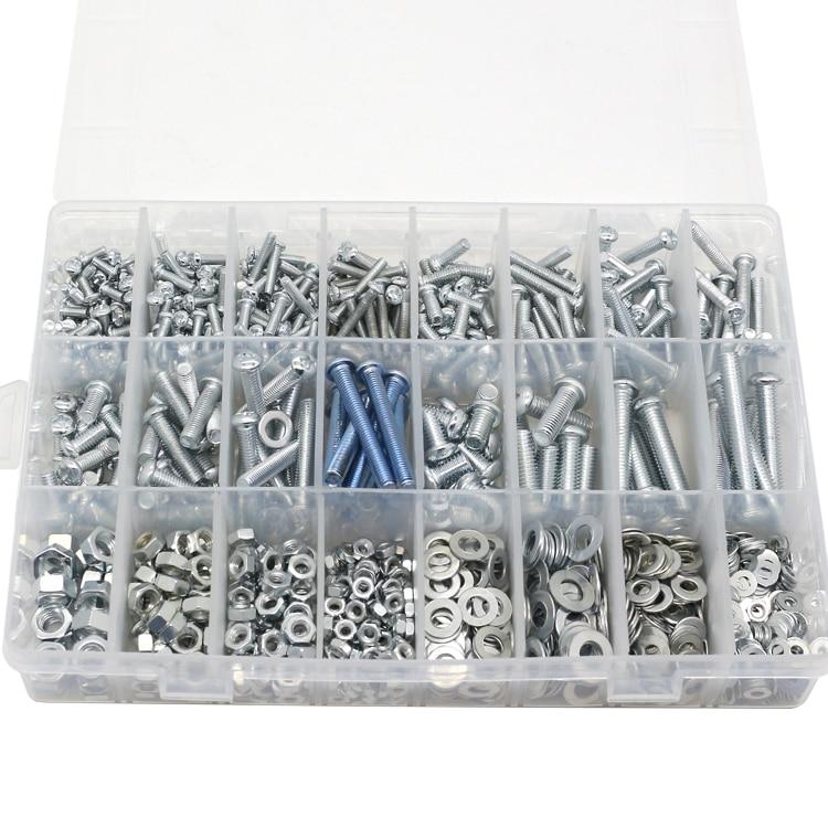 Home Screw Set Semi-round head tapping screw nut gasket M3 M4 M5 M6 Screw Mixed DIY  цены