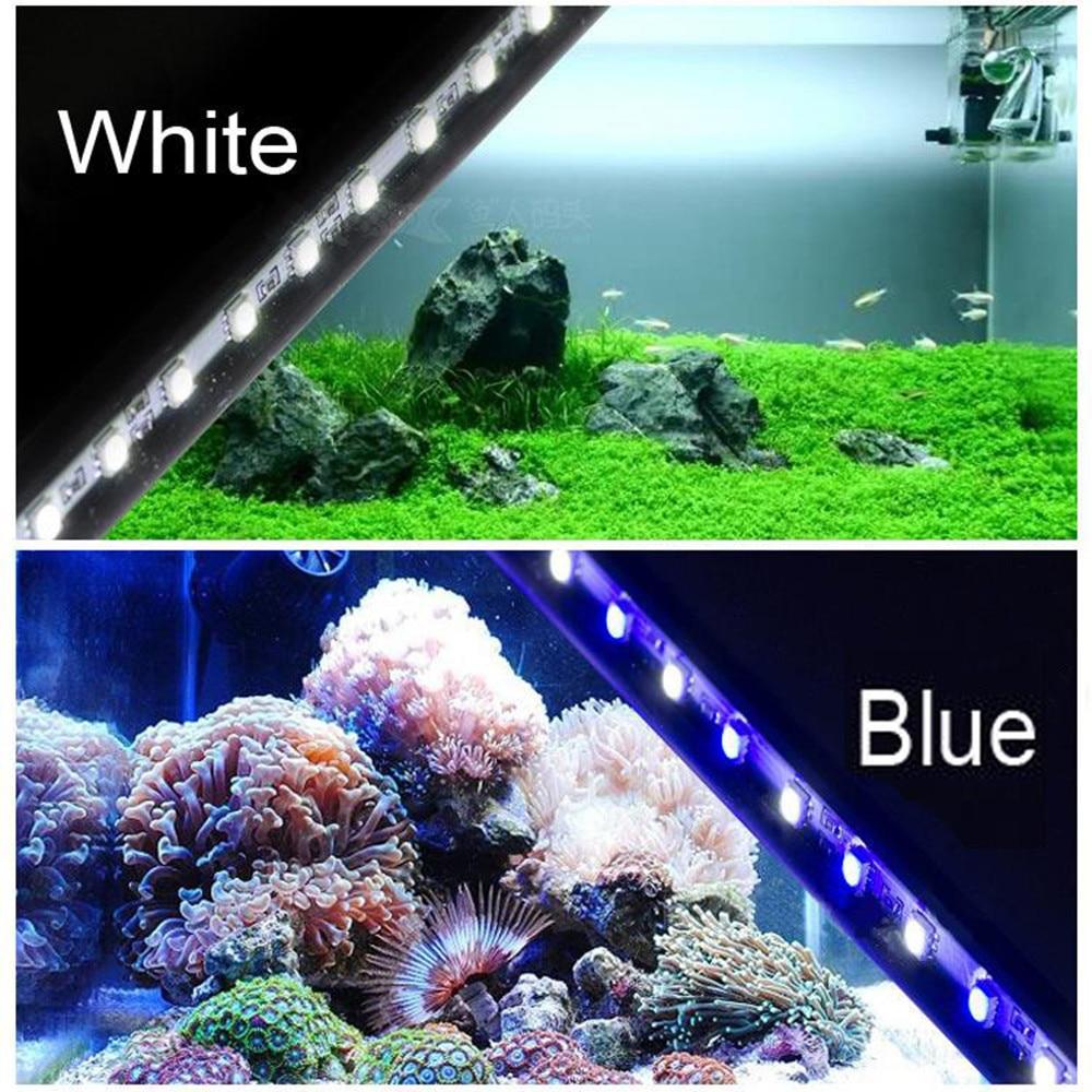 UE EE. UU. PLUG Acuario LED Light Fish Tank Blanco Azul Impermeable - Iluminación exterior - foto 6
