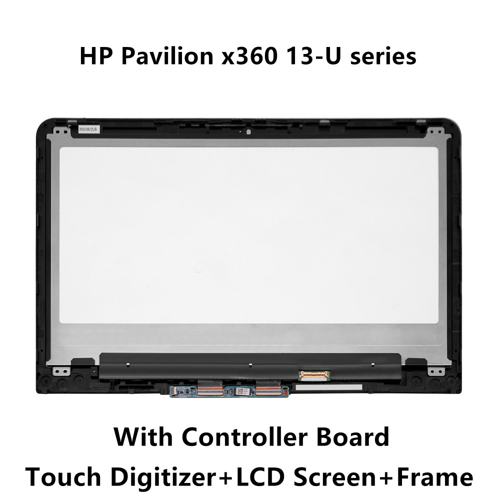 13.3 Full LCD Screen Display Touch Digitizer Glass Assembly+Controller Board+Frame For HP Pavilion X360 13-u163nr 13-u050tu