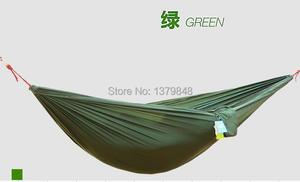 Image 3 - Podwójny hamak Camping Survival hamak tkanina spadochronowa przenośny dla dwóch osób hamak hamak spadochronowy 260*140 CM